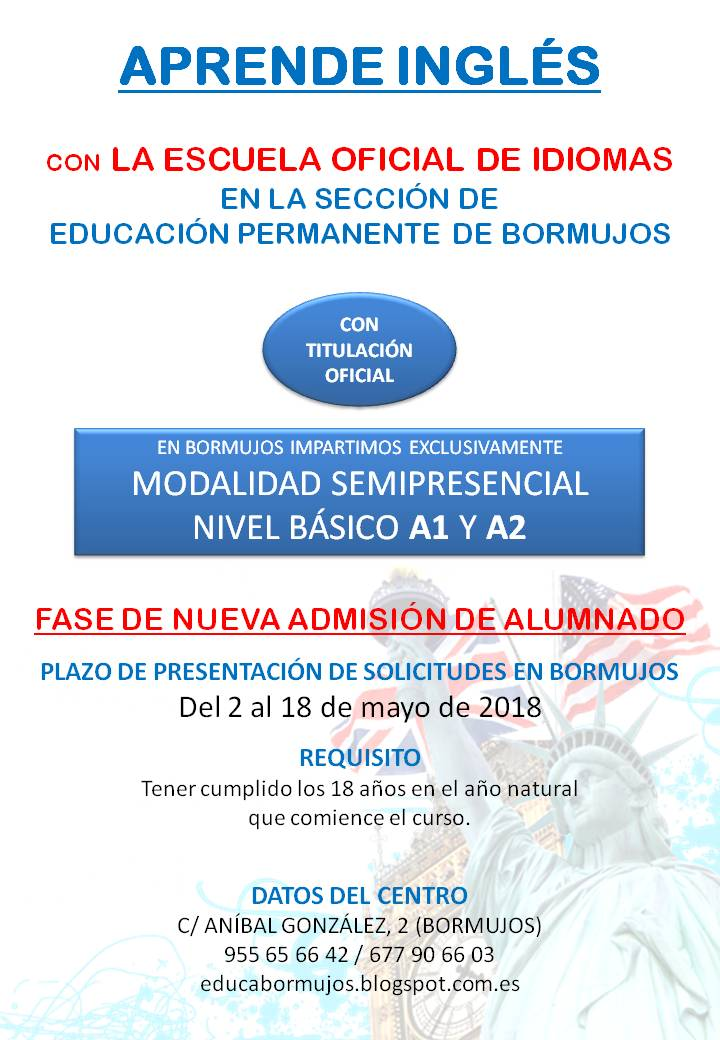 2 CARTEL INGLES EOI 2018-2019